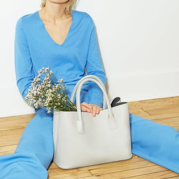 cream vegan tote bag