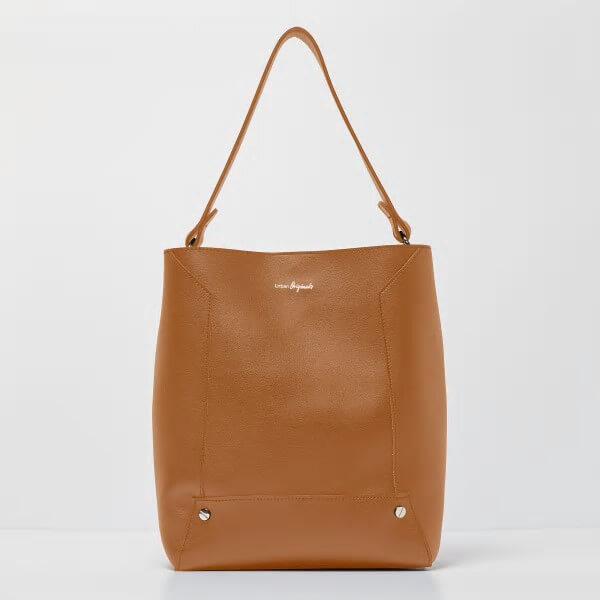 brown vegan tote bag