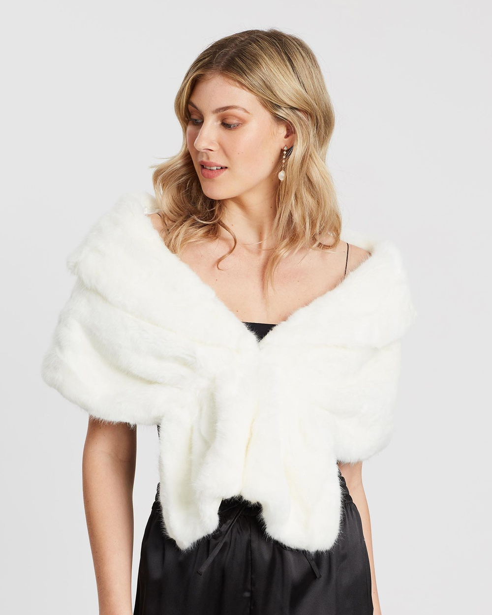 Unreal Fur   Champagne Wrap   Coats & Jackets Ivory Champagne Wrap